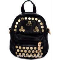 Женская сумка-рюкзак Арт. 8055  Цвет Чёрный
