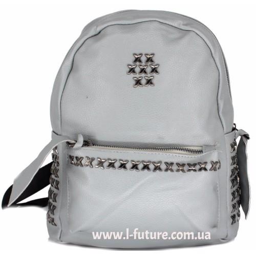Женский рюкзак  Арт. 864  Цвет Серый ID-1996