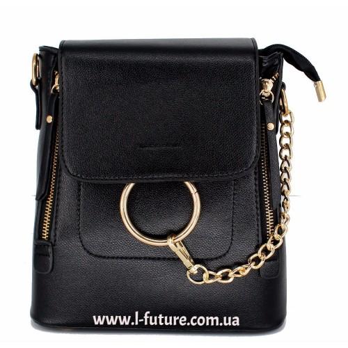 Женская сумка-рюкзак Арт. 6906 Цвет Чёрный ID-1999