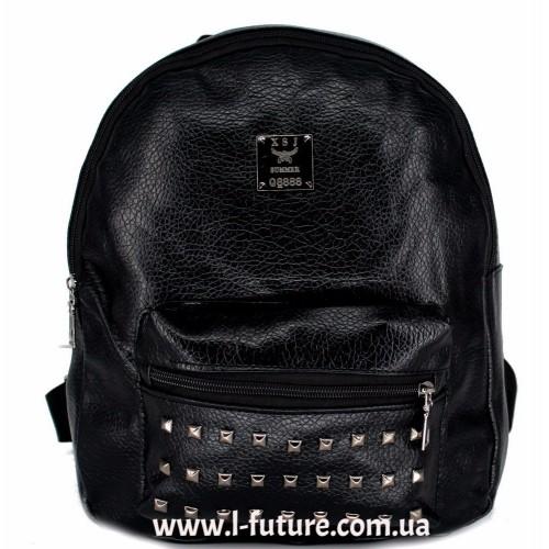 Женский рюкзак Арт. К-9  Цвет Чёрный ID-2023