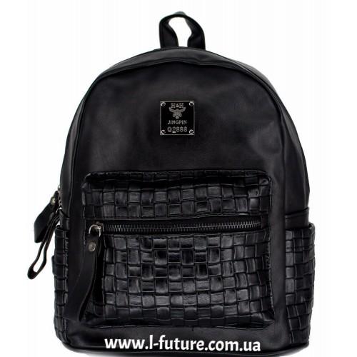 Женский рюкзак Арт. К-7  Цвет Чёрный ID-2024