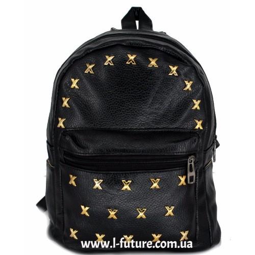 Женский рюкзак Арт. К-3  Цвет Чёрный ID-2025