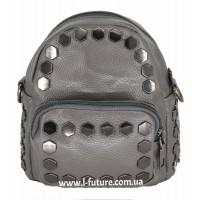 Женская сумка-рюкзак Арт. А-4 Цвет Серый