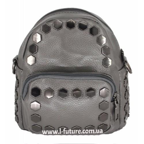 Женская сумка-рюкзак Арт. А-4 Цвет Серый ID-2027
