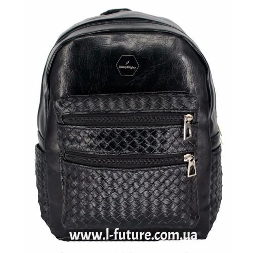 Женский рюкзак Арт. 586  Цвет Чёрный ID-2032