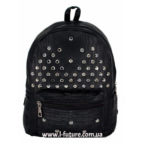 Женский рюкзак Арт. 6040  Цвет Чёрный ID-2033