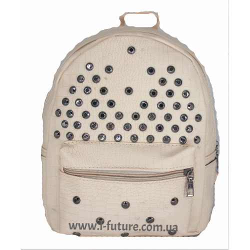 Женский рюкзак Арт. 6040  Цвет Белый ID-2034