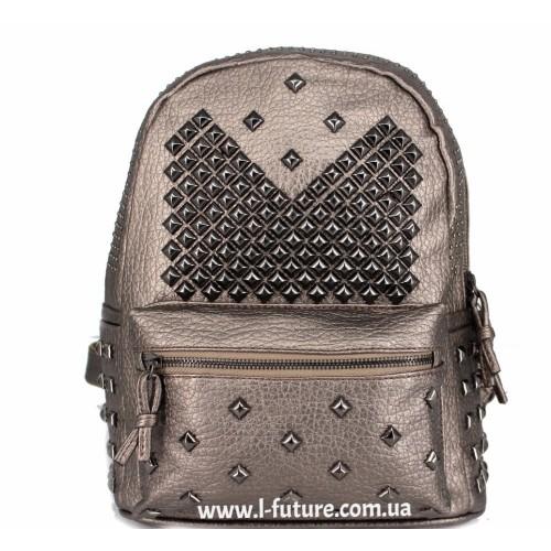 Женский рюкзак Арт. 052  Цвет Бронза ID-2039