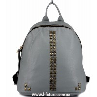 Женский рюкзак  Арт. 863  Цвет Серый