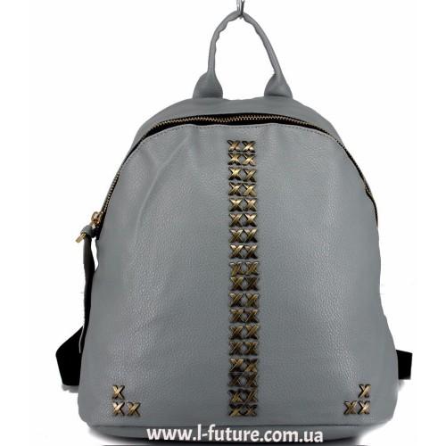 Женский рюкзак  Арт. 863  Цвет Серый ID-2043