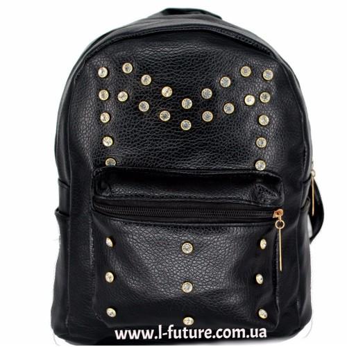 Женский рюкзак Арт. К-10  Цвет Чёрный ID-2046