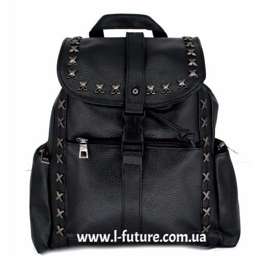 Женский рюкзак Арт. 1205  Цвет Чёрный ID-2052
