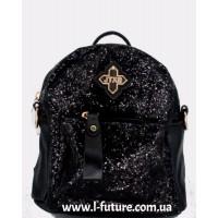 Женская сумка-рюкзак Арт. 201  Цвет Чёрный