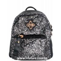 Женская сумка-рюкзак Арт. 201  Цвет Серебро