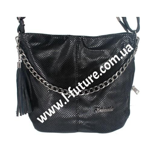 Женская сумка Лазерка Арт. 838-1 Цвет Чёрный