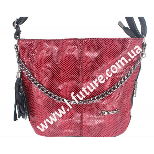 Женская сумка Лазерка Арт. 838-1 Цвет Красный
