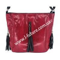 Женская сумка Лазерка Арт. 906 Цвет Красный
