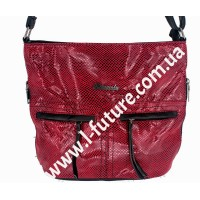 Женская сумка Лазерка Арт. 905 Цвет Красный