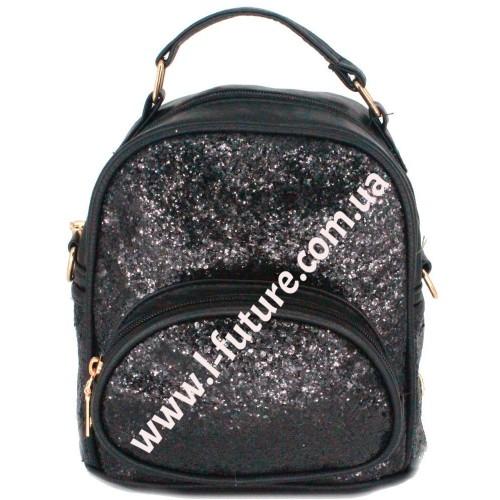 Женская Сумка-Рюкзак Арт. 180-1 Цвет Чёрный