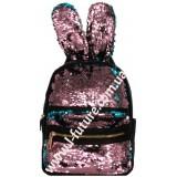Детский Рюкзак С Пайетками Арт. 181  Цвет Розовый С Голубым