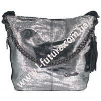 Женская Сумка Лазерка Арт. 838-1-2 Цвет Серебро