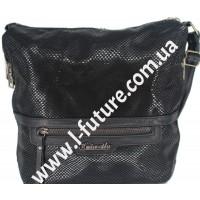 Женская сумка Лазерка Арт. 841 Цвет Чёрный