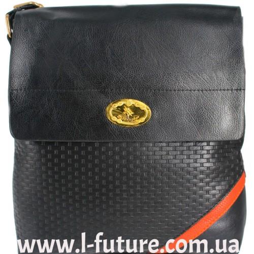 Мужская сумка арт. 2015-12 Цвет Чёрный ID-437