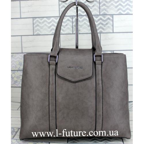 Женская Сумка Арт. F 8146 Цвет Серый