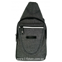 Мужская сумка через плечо Арт.0680 Цвет Серый