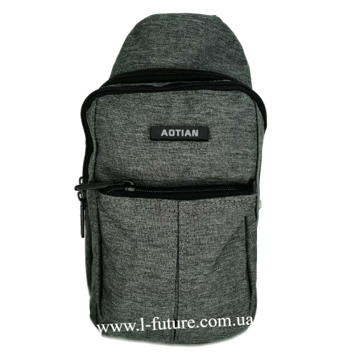 Мужская сумка через плечо Арт. 6925 Цвет Серый