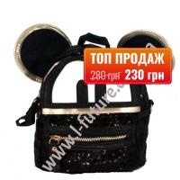 Женская сумка-рюкзак Арт. 2018  Цвет Чёрный